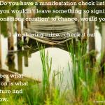 manifestation check list