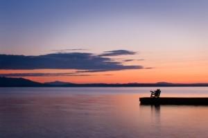 lake scene peace